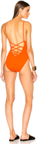 Proenza Schouler Lace Back Maillot