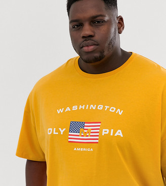 Asos DESIGN Plus oversized t-shirt with American flag print