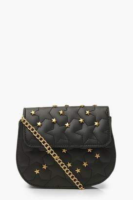 boohoo Quilted Star Studded Cross Body Bag