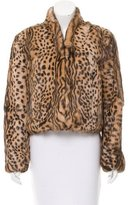 Haute Hippie Leopard Print Fur Jacket w/ Tags