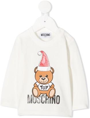 MOSCHINO BAMBINO Toy glitter sweatshirt