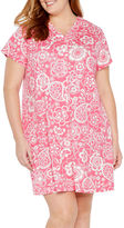 Miss Elaine By Short Sleeve Robe-Plus