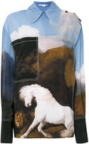 Stella McCartney oversized horse printed shirt