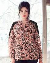 Anna Scholz Animal Print Lace Trim Shirt