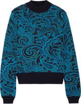 Mary Katrantzou Deelo paisley-intarsia wool sweater