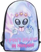 Kukubird Design Pastel Holo Pattern Front Backpacks