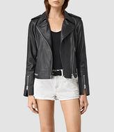 AllSaints Bourne Leather Biker Jacket