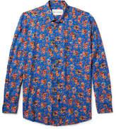 Our Legacy Slim-fit Floral-print Matte-satin Shirt