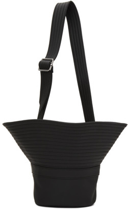MM6 MAISON MARGIELA Black Faux-Leather Hat Bag