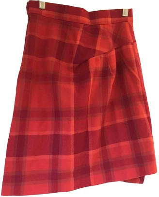 Vivienne Westwood Red Cotton Skirt for Women