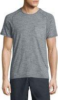 John Varvatos Micro-Stripe Short-Sleeve T-Shirt, Gray