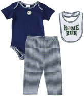 Absorba Home Run Pants Set w/Bib (Baby) - Navy-0-3 Months