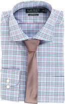 Lauren Ralph Lauren Non Iron Poplin Stretch Classic Fit Spread Collar Plaid Dress Shirt Men's Clothing