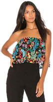 Jens Pirate Booty Tropical Forest Tecual Tube Top in Black. - size M-L (also in XS-S)