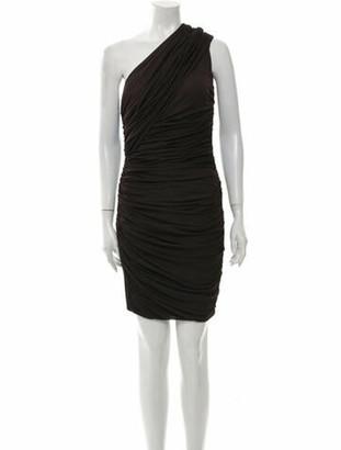 Giambattista Valli One-Shoulder Knee-Length Dress Brown