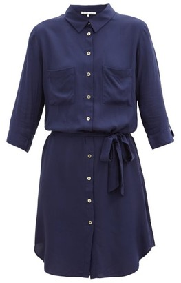 Heidi Klein Core Belted Shirt Dress - Navy