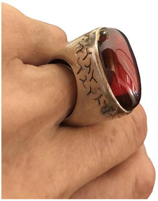 Pianegonda Red Silver Rings