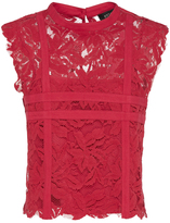 Oxford Evelyn Lace Top Raspberry X