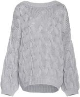 Brunello Cucinelli Oversized Cable-Knit Cotton Sweater