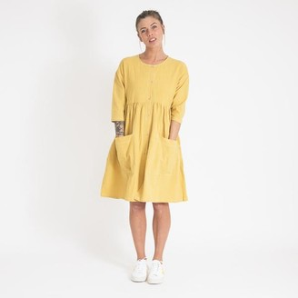 L.F. Markey L F Markey Saffron Yellow Samuel Dress - UK 12
