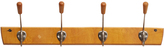 Rejuvenation Maple & Aluminum Modern Hook Rack
