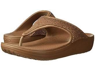 Crocs Women's Sloane Diamante Flip Flat Sandal