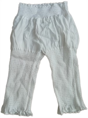 Limi Feu White Cotton Trousers for Women