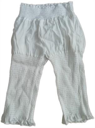 Limi Feu White Cotton Trousers