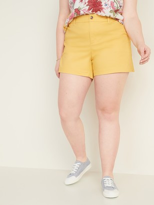 Old Navy Mid-Rise Plus-Size Everyday Twill Shorts - 5-inch inseam