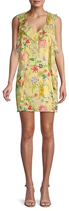 Parker Floral-Print Ruffle Shift Dress