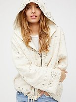 Free People Embellished Cotton Hoodie