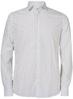 J. Lindeberg Dani Long Sleeve Print Shirt, White
