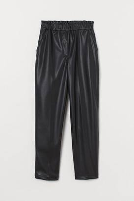 H&M Paper bag trousers
