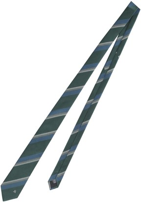 Lanvin Herringbone Pattern Tie
