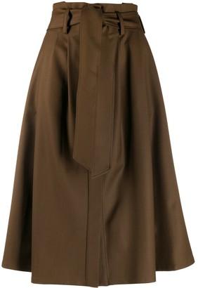 P.A.R.O.S.H. High-Waisted Midi Skirt