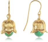 Aurelie Bidermann 18K gold-plated Lily of the Valley Earrings w/Turquoise