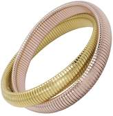 Janis Savitt High Polished Gold and Rose Gold Double Cobra Bracelet