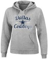 """NFL Dallas Cowboys Women's Plus Size Split Neck Hoodie """"Shape it Up"""" - Gray"""