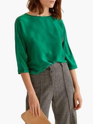 Jigsaw Silk Front Batwing Top, Emerald