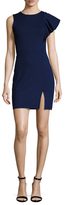 Susana Monaco Kasia Asymmetrical Cap Sleeve Sheath Dress