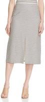 Alice + Olivia Sabrena Stripe Midi Skirt