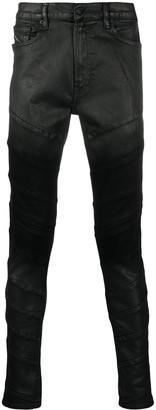 Diesel Coated Mid-Rise Skinny Jeans