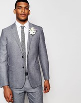 Reiss Salt & Pepper Wedding Suit Jacket In Slim Fit