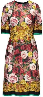 Dolce & Gabbana Twill Rose silk dress