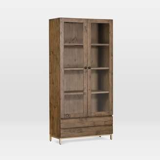 west elm Reclaimed Pine Windowed Cabinet