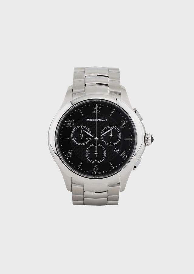 Emporio Armani Stopwatch In Stainless Steel 8700