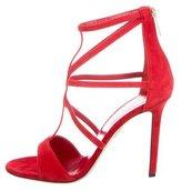 Tamara Mellon Cutout Suede Sandals w/ Tags