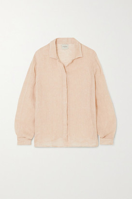 Le Kasha Oversized Linen Shirt - Peach