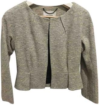 LK Bennett Silver Cotton Jacket for Women