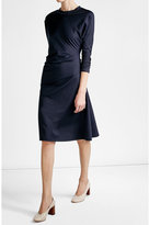 Jil Sander Draped Cotton Dress